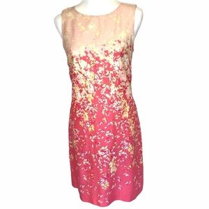 BE Dress Fitted Shift Pink Yellow Summer NWOT